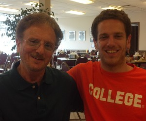 Gary and his son, Bret.  Bret followed in dad's footsteps into the medical profession where he is a physical therapist.