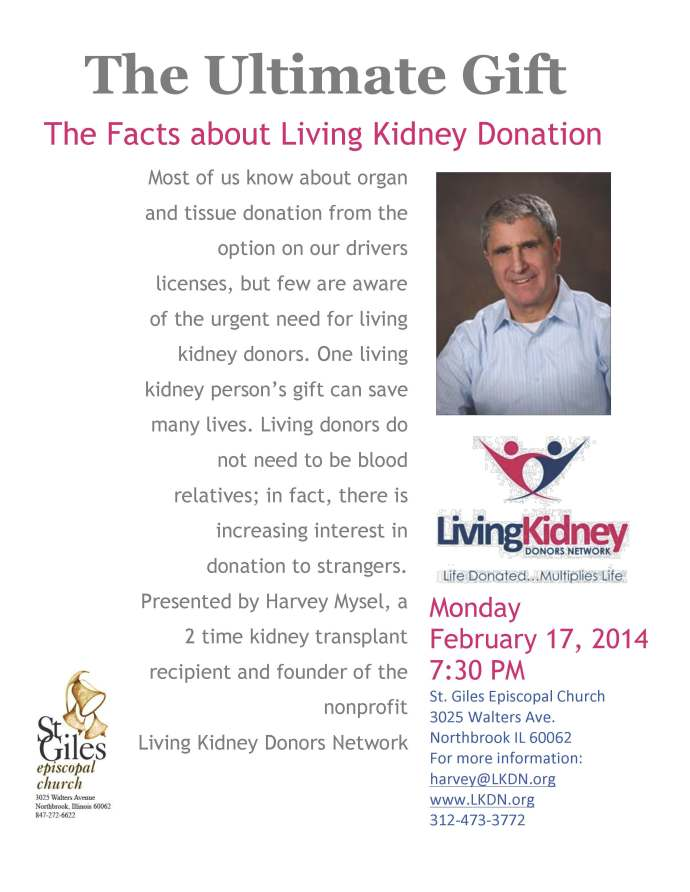 Learn more about Living Kidney Donations at this local event